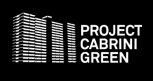 Screen shot of Cabrini-Green housing project black and white image